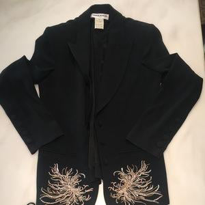 suit blazer gold bursts & matching top